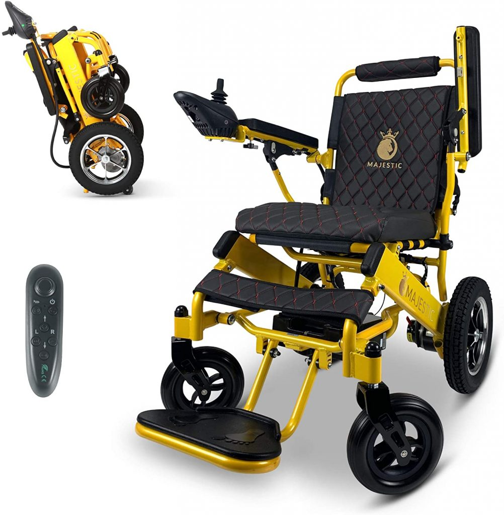 2021 Electric Wheelchairs Lightweight Foldable Motorize Power Electrics Wheel Chair Mobility Aid