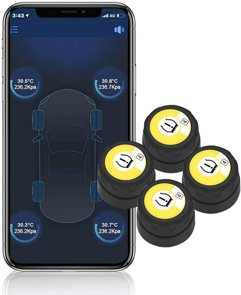BARTUN Bluetooth Wireless Tire Pressure Monitoring System
