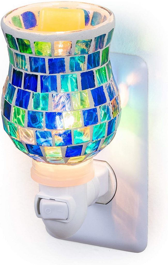 Dawhud Direct Mosaic Glass Plug-in Fragrance Wax Melt Warmers