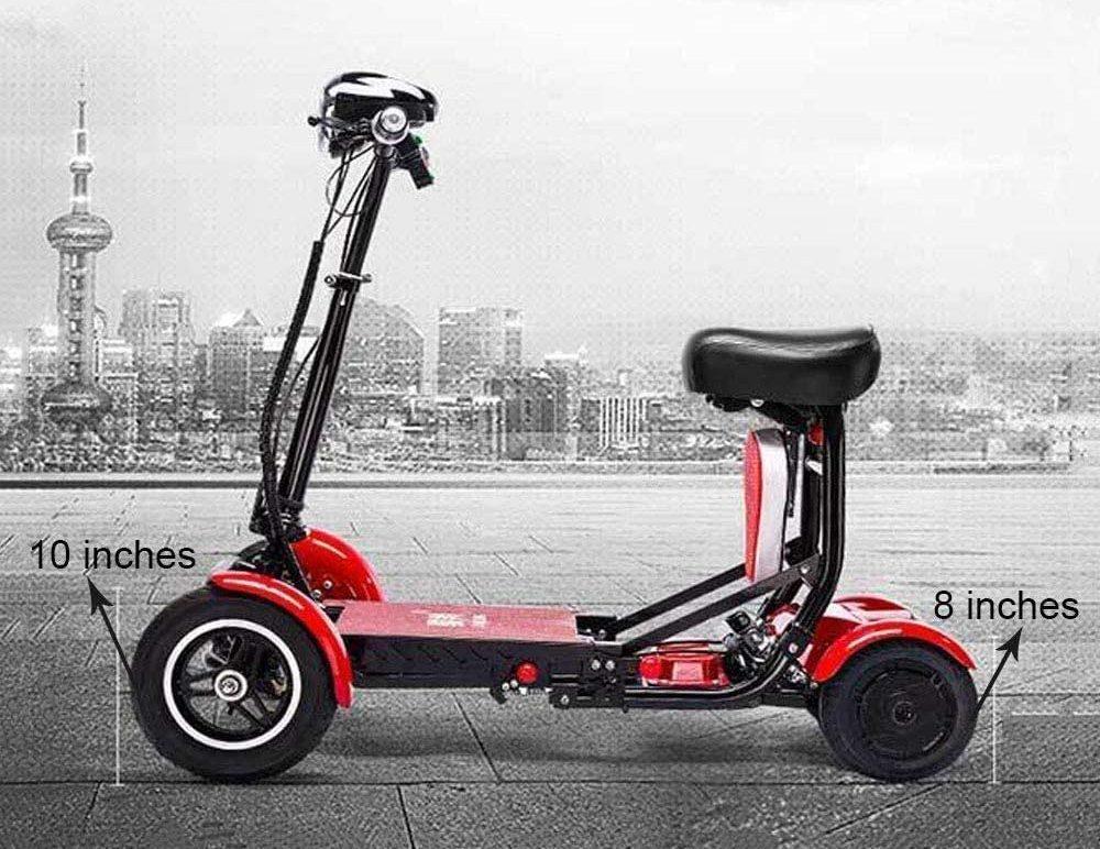 Foldable Lightweight Heavy Duty Lithium electric Wheelchair Multi Terrain Easy Travel (White)