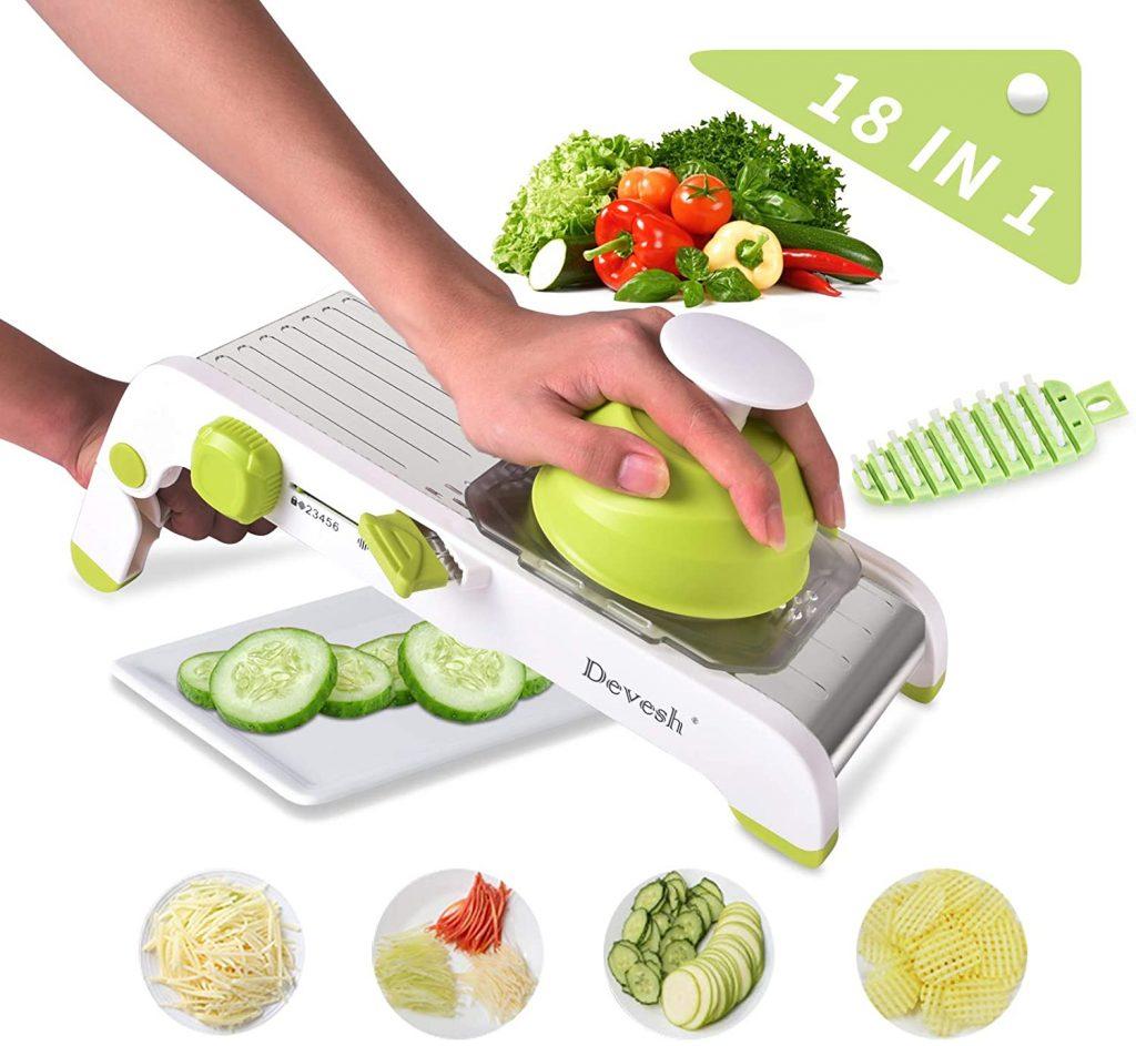 Mandoline Slicer Vegetables Slicer Stainless Steel Manual Cutter Vegetable Grater Julienne Slicer Fruit Waffle, for Kitchen Onion Potato Slicer