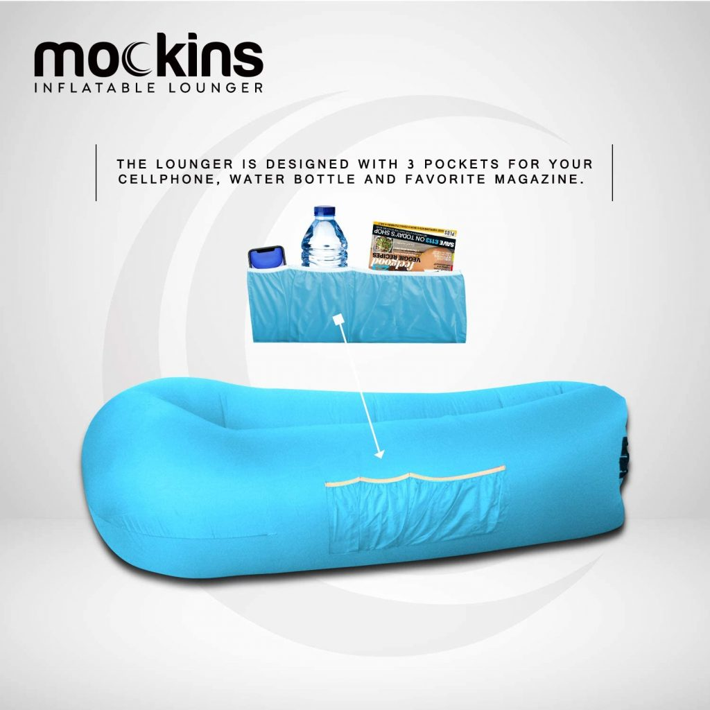 Mockins 2 Pack Blue & Purple Inflatable Lounger