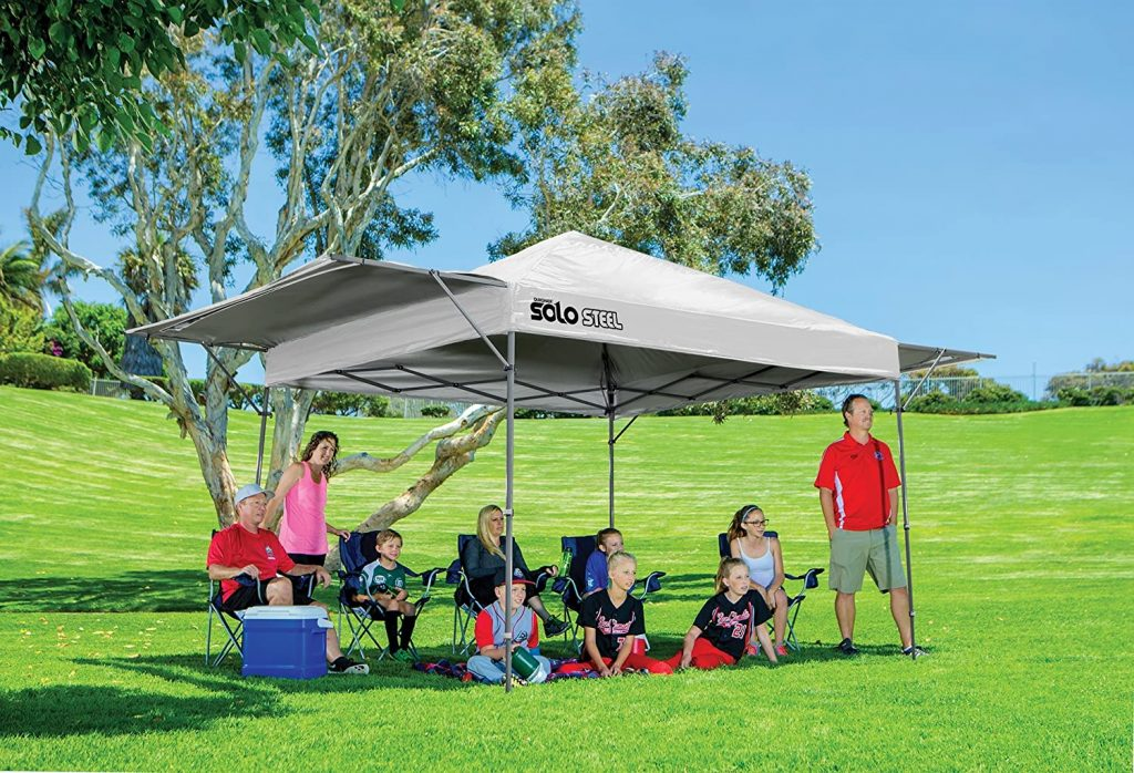 Quik Shade 10' x 17' Solo Steel 170 Square Feet of Shade Straight Leg Outdoor Pop-Up Canopy