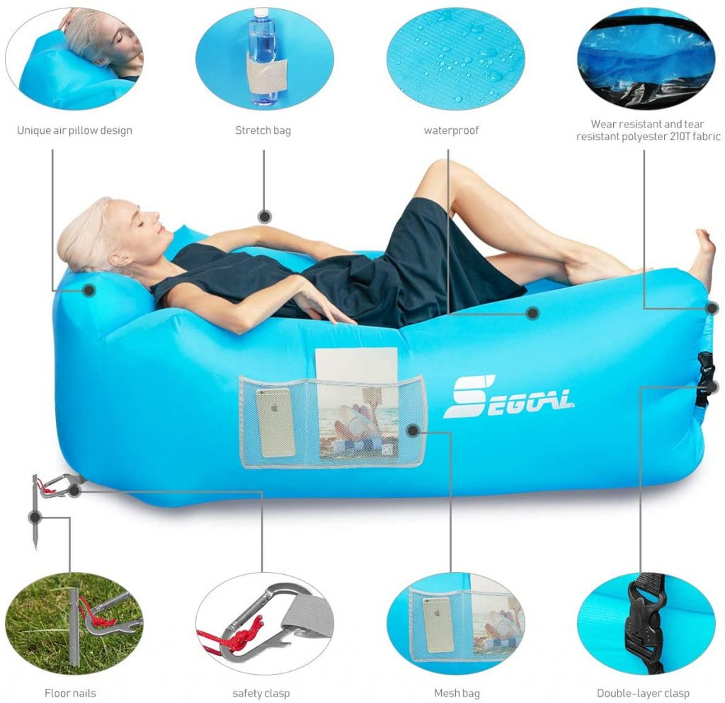 SEGOAL Inflatable Lounger Air Sofa Couch