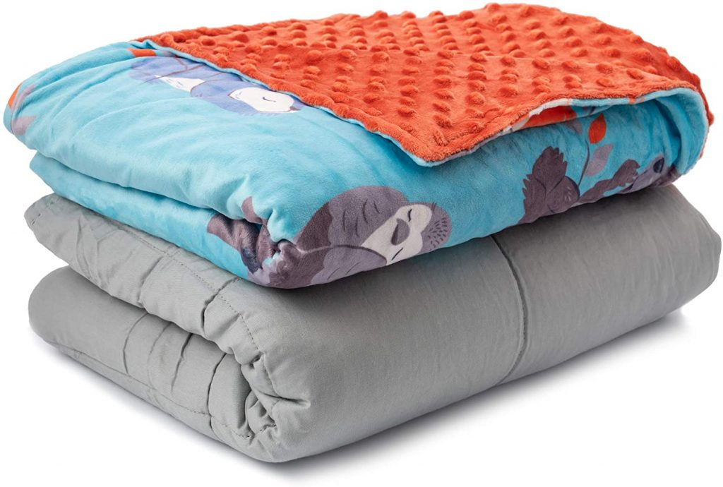 Sweetzer & Orange Weighted Blanket Warming and Cooling Weighted Comforter with Minky Cover