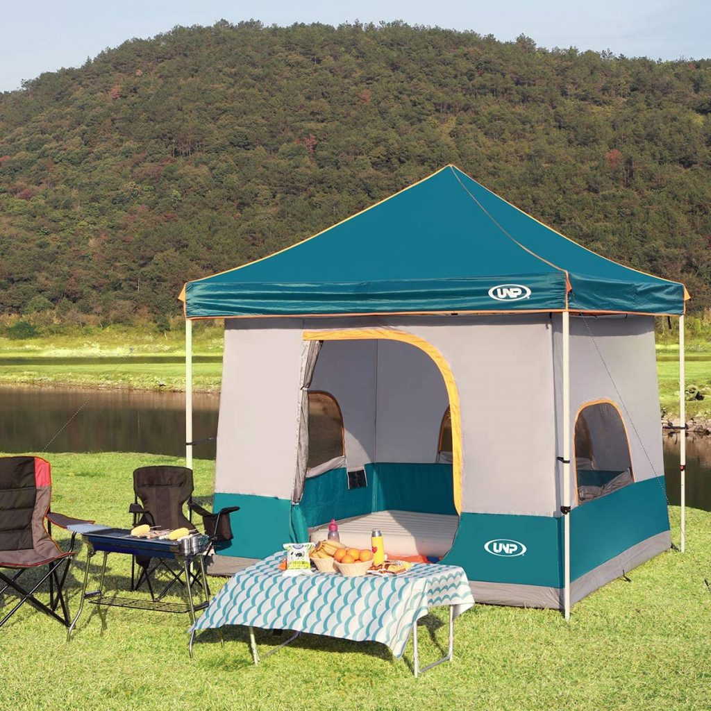 UNP Inner Tent for 10' x 10' Pop Up Canopy,Gazebo/Sewn-in Floor and Fully Vented Roof with1 Mesh Door & 3 Large Mesh Windows Easy Set Up Excluding Canopy Frame