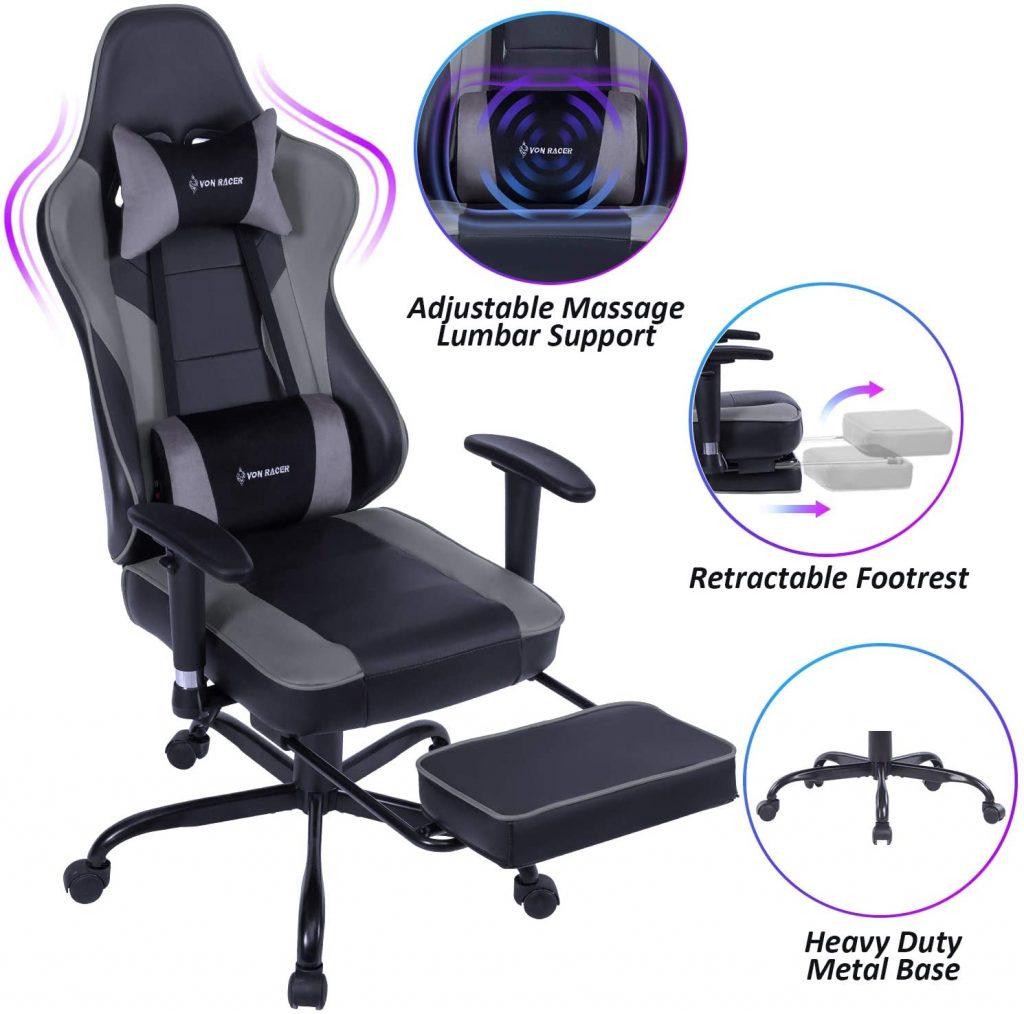 VON RACER Massage Gaming Chair