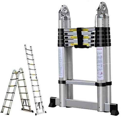 16.5FT Aluminum Telescoping Extension Ladder