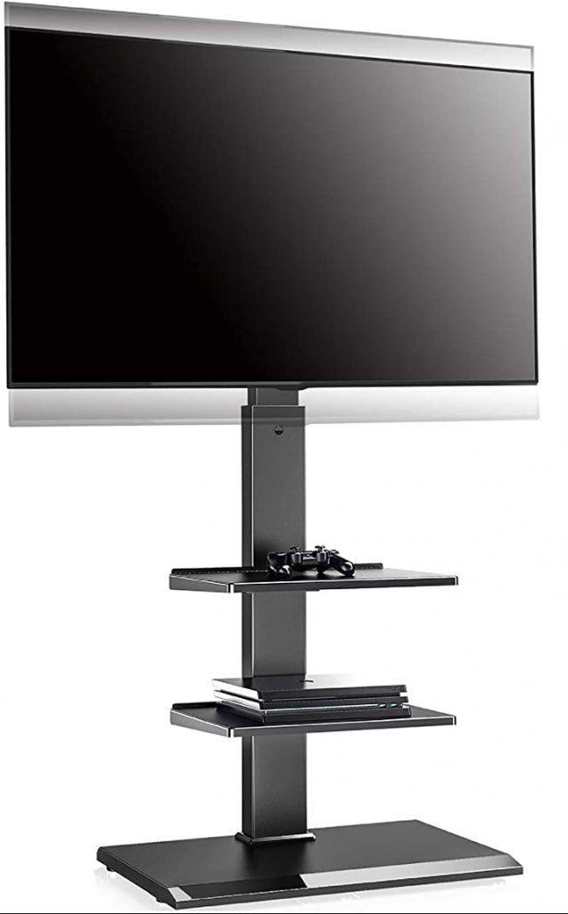 FITUEYES Floor TV Stand with Adjustable Shelf
