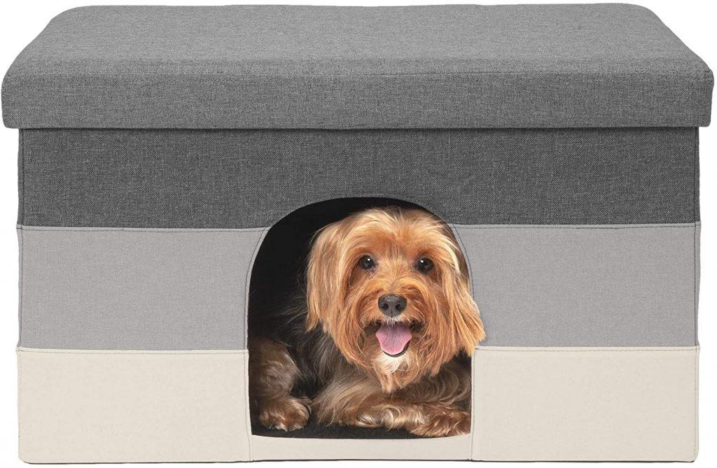 Furhaven Pet Living Room Ottoman Footstool Small Pet Den