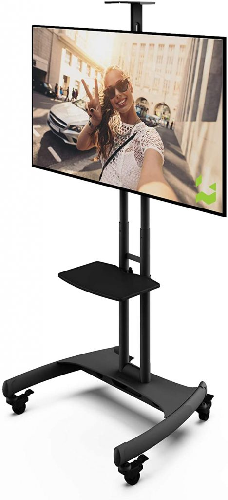 Kanto MTM65PL Height Adjustable Mobile TV Stand with Shelf