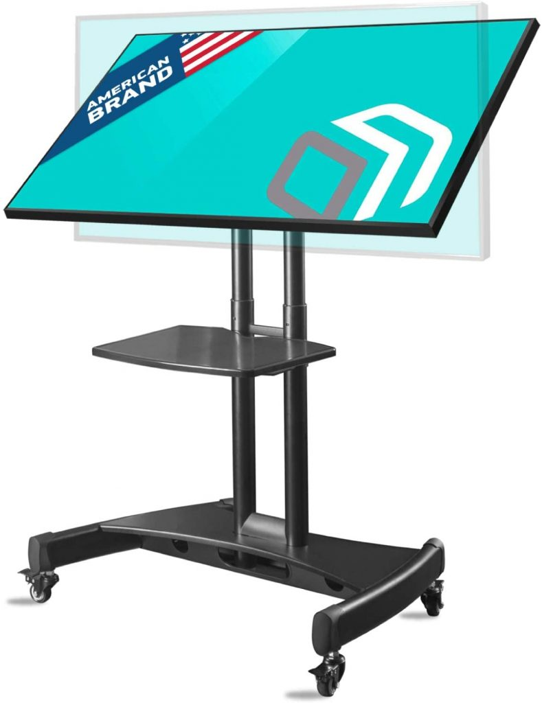 ONKRON Tilting Mobile TV Stand