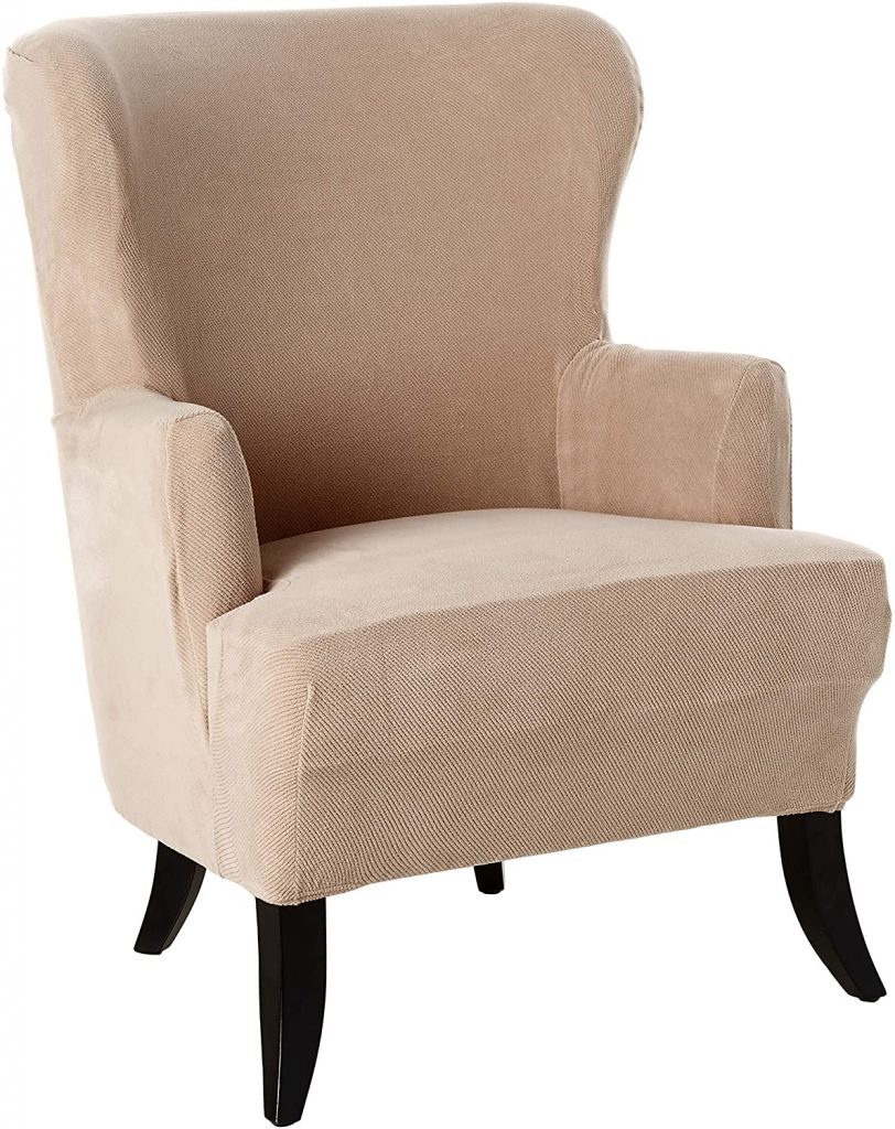 SureFit Stretch Wing Chair Slipcover
