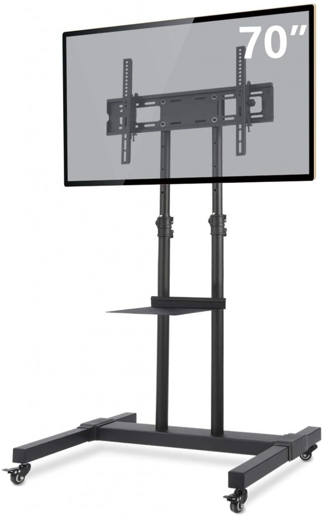TAVR Mobile TV Stand Rolling TV Cart Floor Stand with Mount