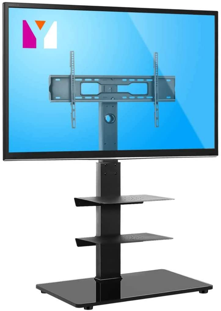 YOMT Floor TV Stand Base with Shelves