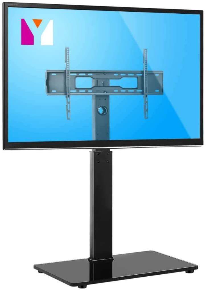 YOMT Universal Floor TV Stand Base with Swivel Mount