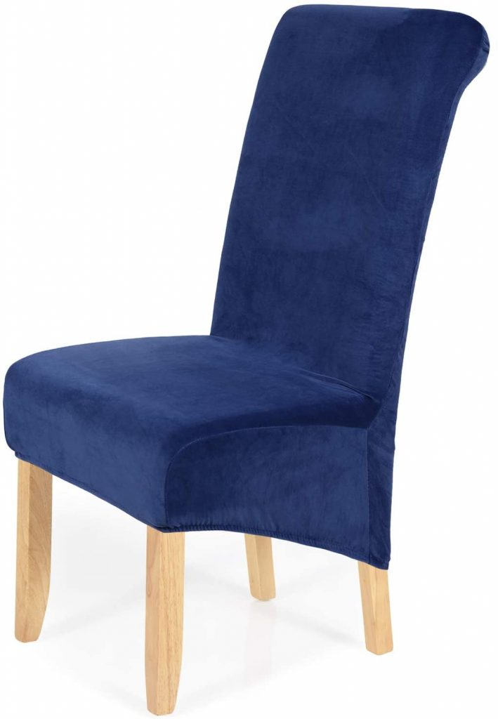 smiry Stretch Velvet Dining Chair Covers