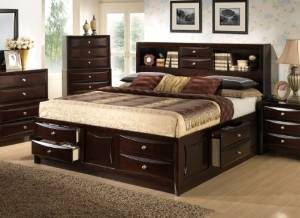 6. Roundhill Furniture Ankara Storage Bed