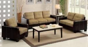 8. Furniture of America Laverne I Microfiber Sofa