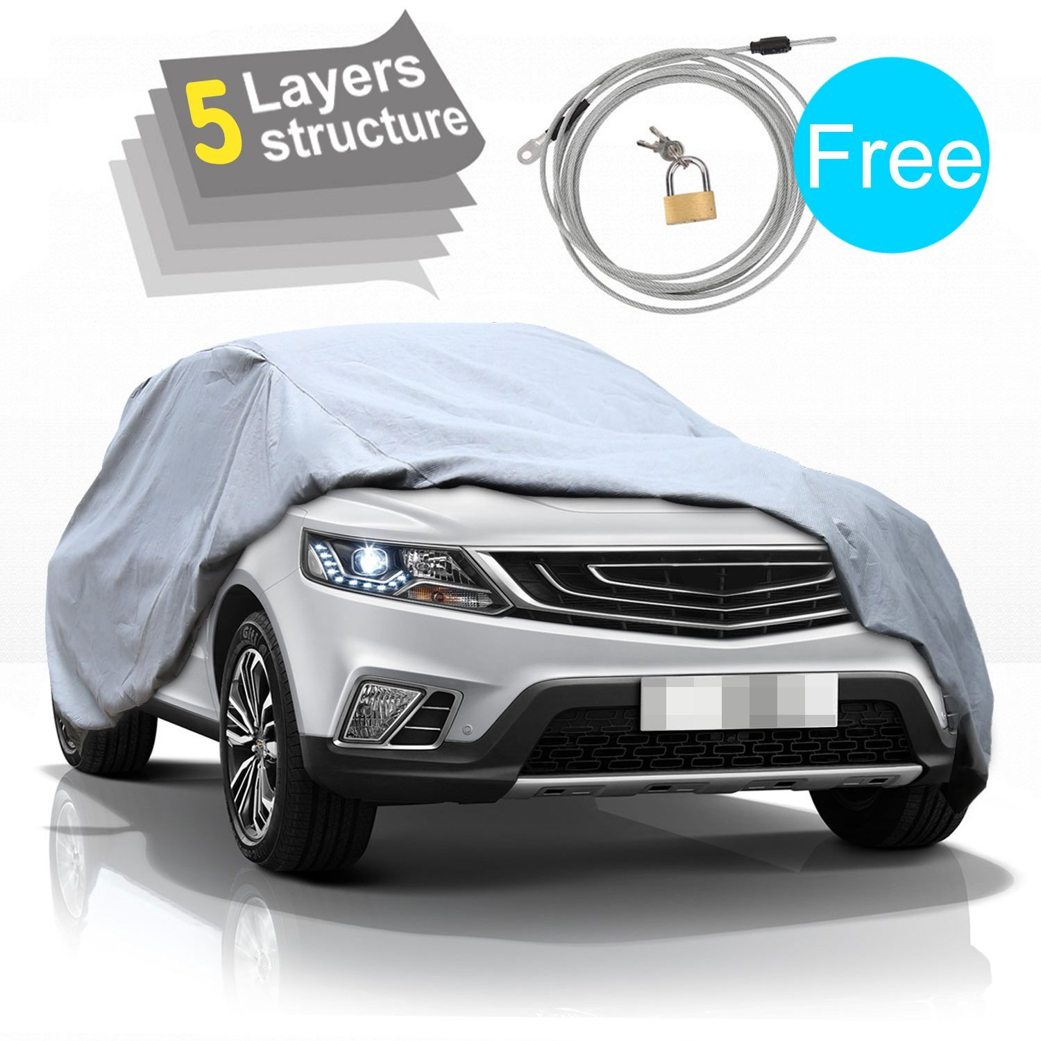 SUV Car Cover-5 Layers All Weather Waterproof