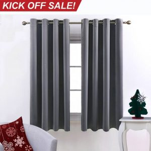 #3. NICETOWN Double panel set blackout curtains