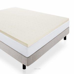 #5. LUCID LinenSpa mattress topper