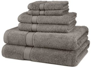 #1. Pinzon Egyptian Cotton 6-Piece Bath Towel