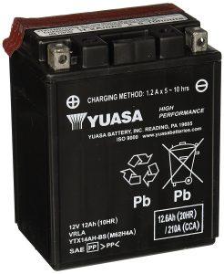 #10. Yuasa YUAM62H4A YTX14AH-BS ATV Battery