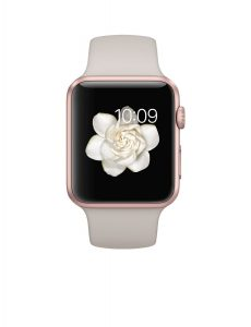 #6. Apple watch 42mm with rose gold aluminum case