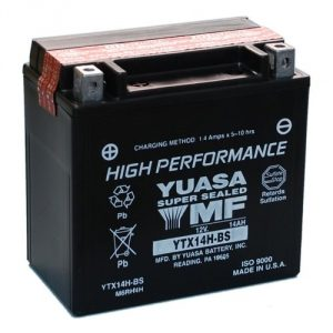#8. Yuasa YUAM6RH4H YTX14H-BS ATV Battery