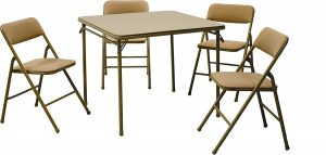 Cosco products folding chair and table 5 piece set- Tan  sc 1 st  Top Best Product Review Top Best Product Review & Top 10 Best Folding Chair \u0026 Tables in 2018/Top 10 Best Folding Chair ...