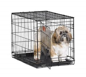 1. MidWest iCrate Folding Dog Crate (Single Door)