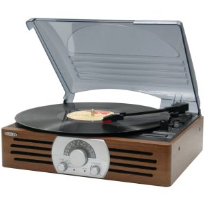 10. Jensen JTA-222 3-Speed Turntable Record Player
