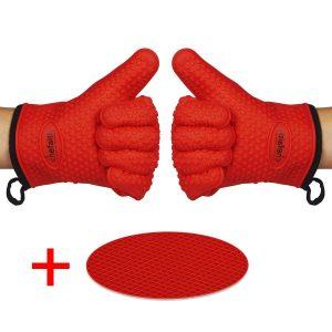10. Chefaith Silicone Kitchen Gloves