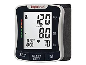 #10. Slight Touch Fully Automatic Wrist Blood Pressure Cuff Monitor ST-501