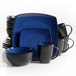 10.The Boutique Beautiful Soho Lounge 16 Piece Blue Dinnerware Set