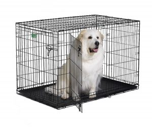 2. Midwest iCrate Folding Metal Dog Crate (Double Door)