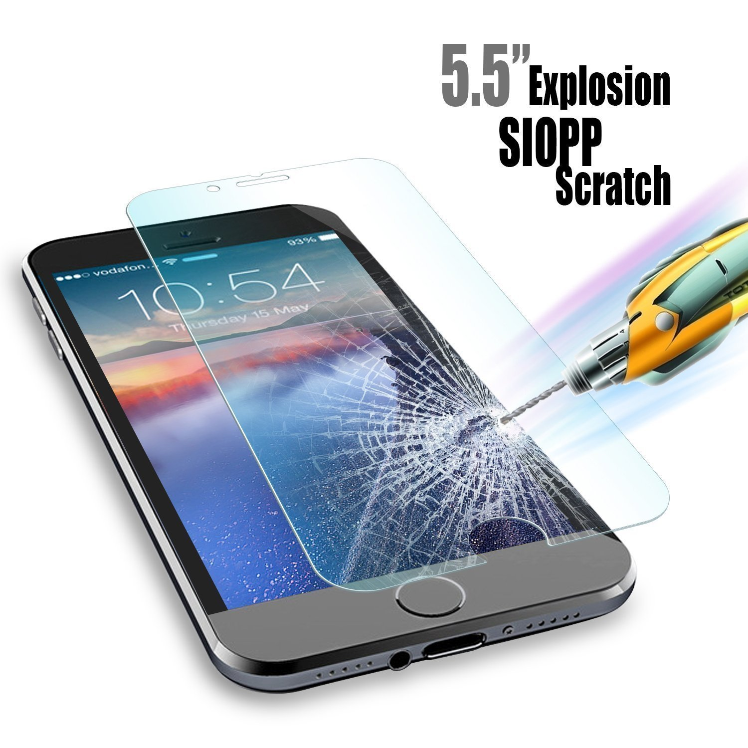 Top 10 Best Iphone 6s 6 Plus Screen Protectors Reviews Tempered Glass 8 Clear 3d Full Cover Premium Pro