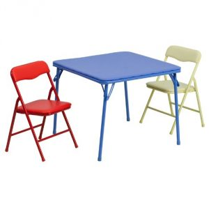 3. Kids colorful folding table and chair 3 piece