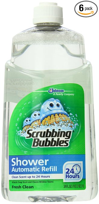 3. Scrubbing Bubbles Auto Shower Cleaner Fresh Scent Refills Pack of 6