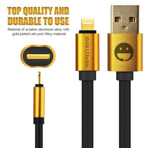 3. Small electric Alloy Gold Plated Lightning Cable