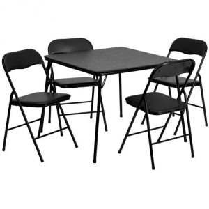 4. 5-piece folding chair and table – black