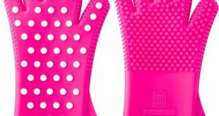 4. Heavy Duty Women's Silicone Oven Mitts Heat Resistant Gloves