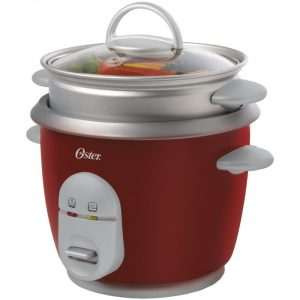 #4. Oster 004722-000-000 Rice Cooker, 6 Cup, Red