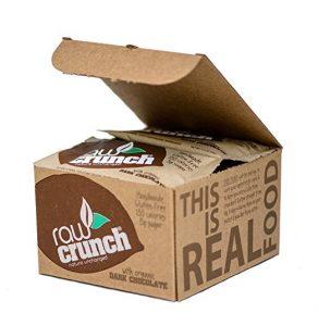 4.Raw Crunch Bars - Organic Dark Chocolate - Box of 12 Bars