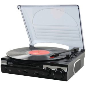 5. Jensen JTA-230 3 Speed Turntable Record Player