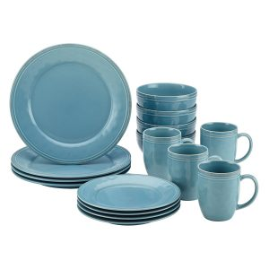 Rachael Ray 55093 Cucina 16-Piece Stoneware Dinnerware Set Agave Blue  sc 1 st  Top Best Product Review Top Best Product Review & Top 10 Best Dinnerware Sets Reviews