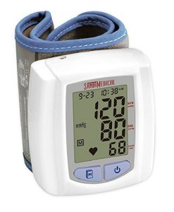 #5. Santamedical Wrist Digital Blood pressure Monitor with Case - Large Display