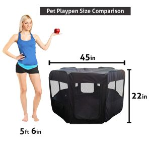 6. ToysOpoly Outdoor/Indoor Pet Playpen Dog Cra