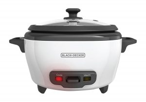 #6. BLACK+DECKER RC506 3-Cup Uncooked Rice Cooker and Food Steamer